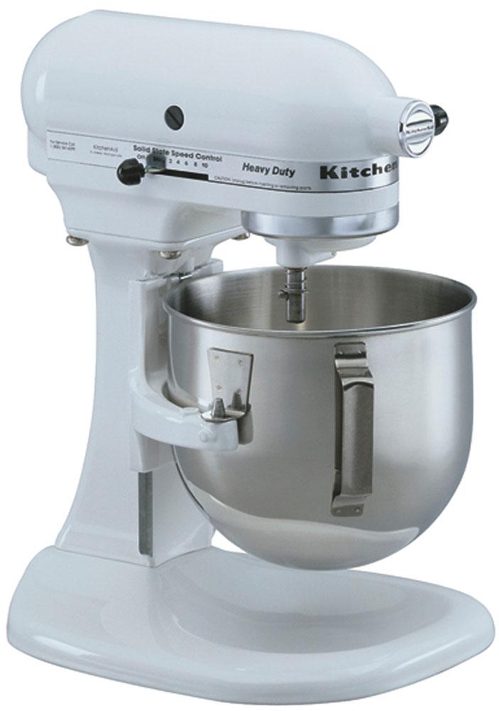 kitchenaid 5k5sswh heavy duty lift bowl mixer white 220 volt. Black Bedroom Furniture Sets. Home Design Ideas