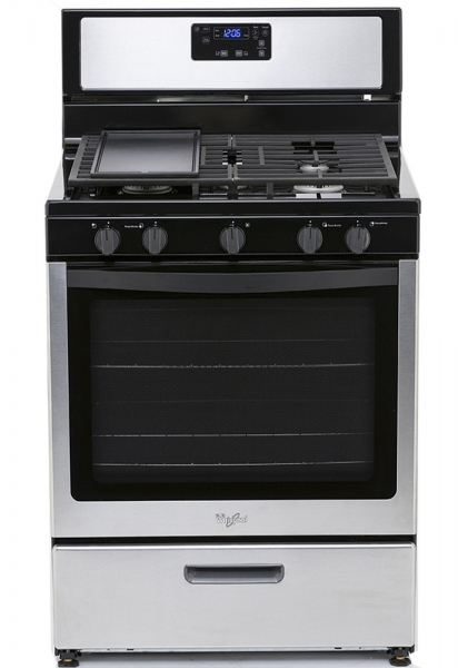 Stove With Griddle In The Middle ~ Whirlpool lwf s volt burner gas range with griddle