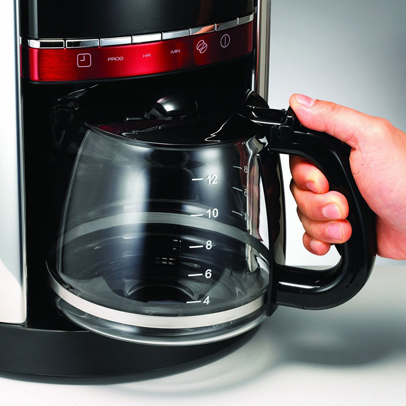 Morphy Richards Accents Digital Filter Coffee Maker 220 240 volts - Red- (47089-00)