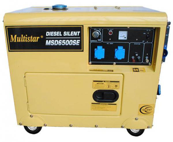 multistar msd6500se diesel generator 220 240 volts 50 hz. Black Bedroom Furniture Sets. Home Design Ideas