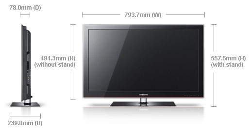 samsung la32a330 32 multi system lcd tv 110 220 240 volts pal ntsc. Black Bedroom Furniture Sets. Home Design Ideas