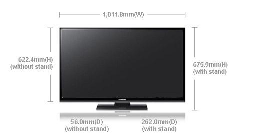 "samsung tv picture size Samsung PS-43E450 43"" Multi-System Plasma TV 110 220 240 volts pal ntsc"