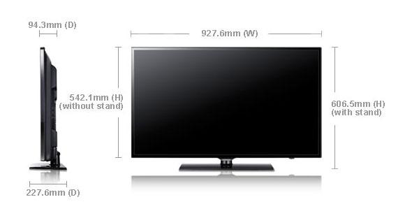 samsung ua40eh6000 40 multi system led tv 110 220 240 volts pal ntsc. Black Bedroom Furniture Sets. Home Design Ideas