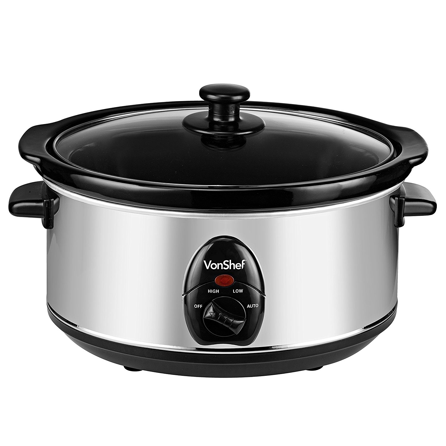 Electric Crock Pot ~ Vonshef liter volts crockpot slow cooker electric
