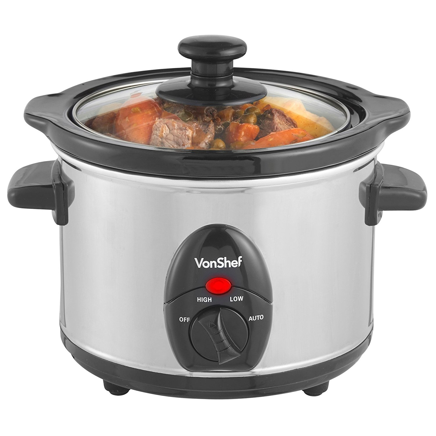 Electric Crock Pot ~ Onshef liter volts stainless steel crockpot slow