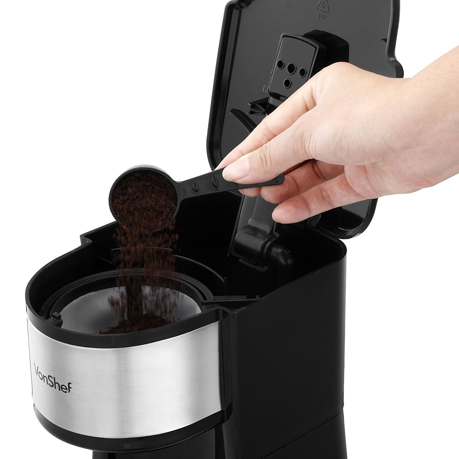 Single Cup Coffee Maker 220 Volt : Vonshef 13166 One-Cup Coffee Maker for 220 Volts