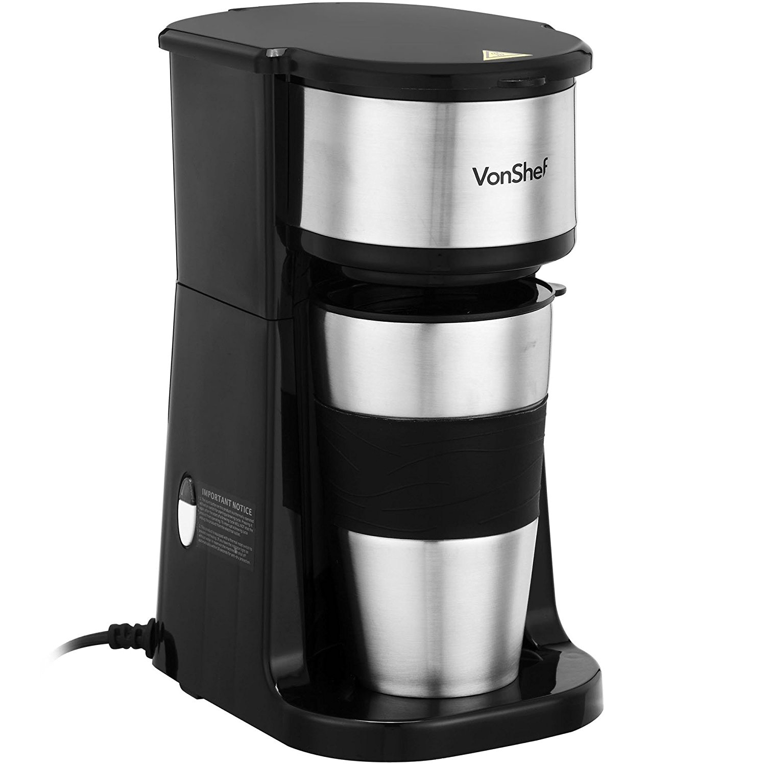 One Cup Coffee Maker ~ Vonshef one cup coffee maker for volts