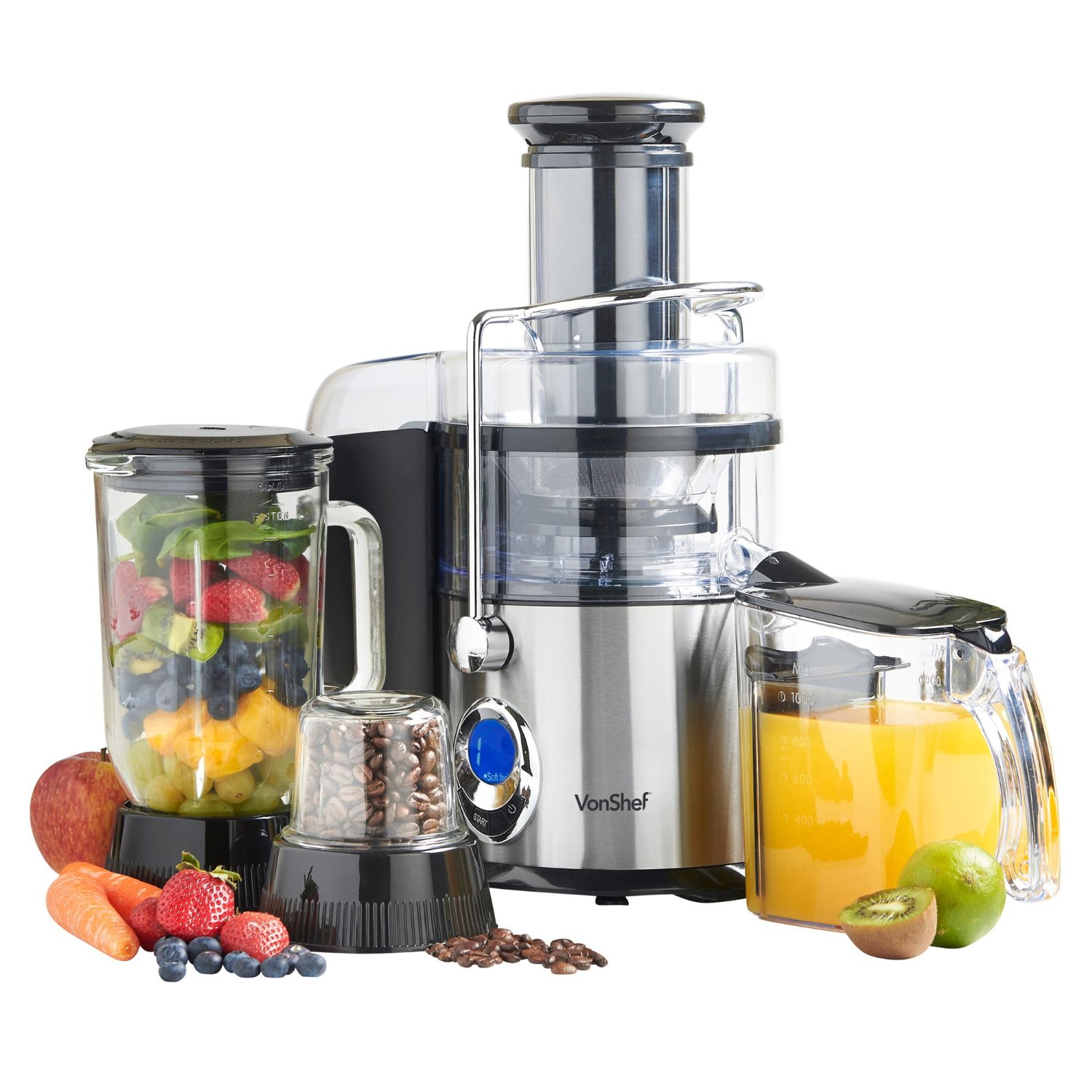 Empty Juice Blender ~ Vonshef in juicer blender grinder for volts