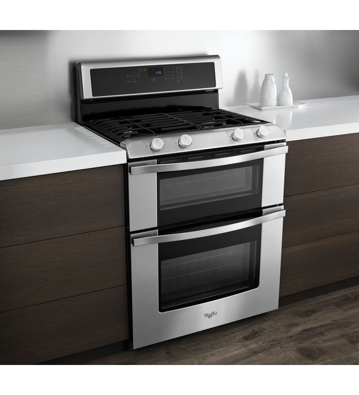 whirlpool wgg555s0bs 6 0 total cu ft double oven gas range with accubake system. Black Bedroom Furniture Sets. Home Design Ideas