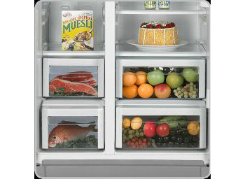 The Separation Into 2 Drawers In Fridge As Well As Freezer Compartment Help  To Separate Different Kinds Of Foods And Especially Avoid Mixing Of Small  Items.