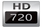 High Definition 720p Resolution