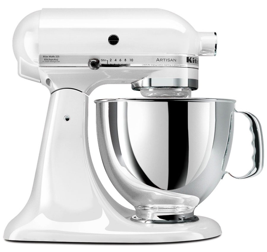 220 Volt KitchenAid Artisan Stand Mixer - White
