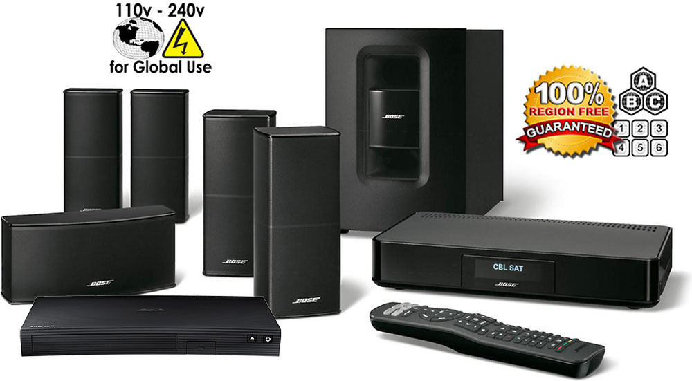 Bose Package Samsung Bd J5100 Region Free Blu Ray Player With Bose Cinemate 520 Home Theater System 110 220 240 Volts