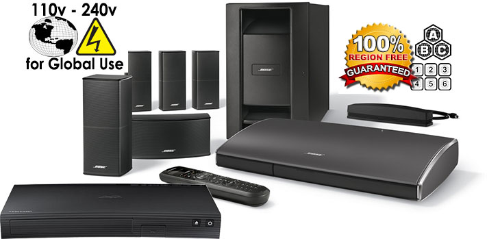 Bose Lifestyle 525 Iii Home Theater 220 Volts With Samsung Bd J5100 Region Free Blu Ray Player With 110 220 240 Volts