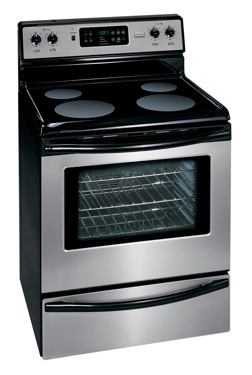 frigidaire smooth top self clean mff366kc stainless electric range. Black Bedroom Furniture Sets. Home Design Ideas