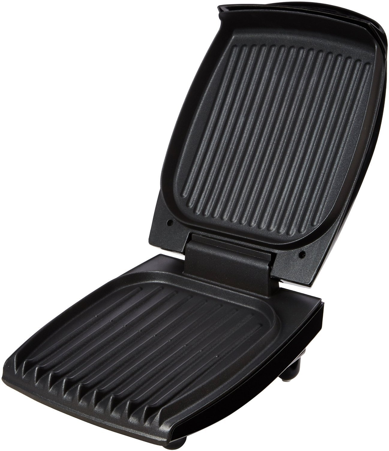 Black NEW George Foreman 18471 Four Portion Family Grill