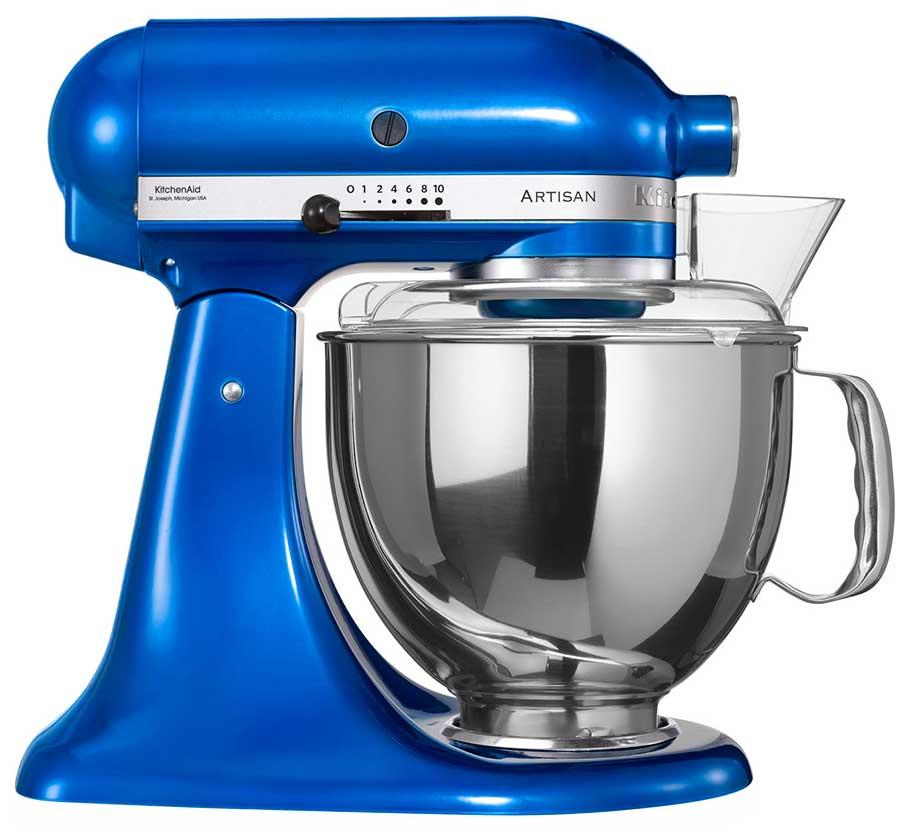 220 Volt KitchenAid 5KSM150PSEEB Artisan Stand Mixer - Electric Blue