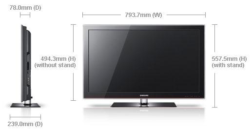 samsung la32c550 32 multi system lcd tv 110 220 240 volts pal ntsc. Black Bedroom Furniture Sets. Home Design Ideas