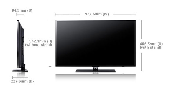 Samsung Ua40eh6000 40 Quot Multi System Led Tv 110 220 240