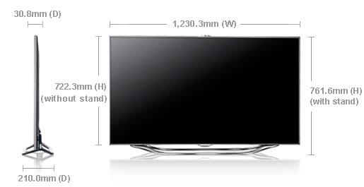 samsung ua55es8000 55 multi system 3d led smart tv 110 220 240 volts pal ntsc. Black Bedroom Furniture Sets. Home Design Ideas