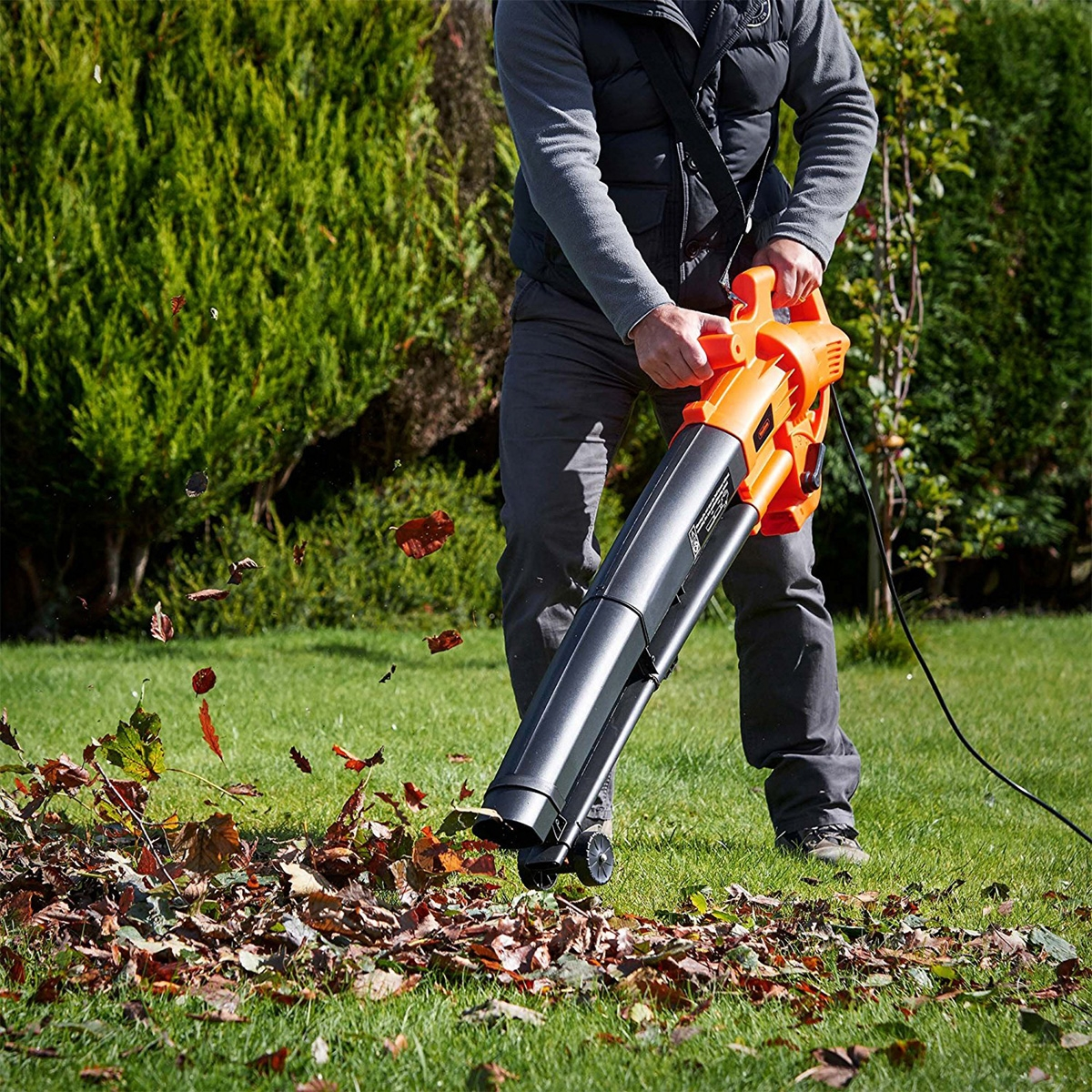 vonhaus 2600w 3 in 1 leaf blower vacuum mulcher for 220 240 volts