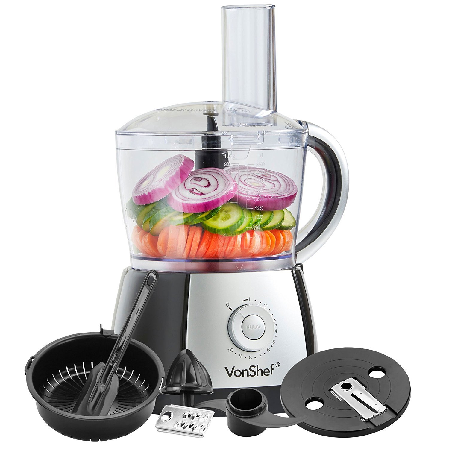 Vonshef 220 Volts Food Processor With Juicer Attachment