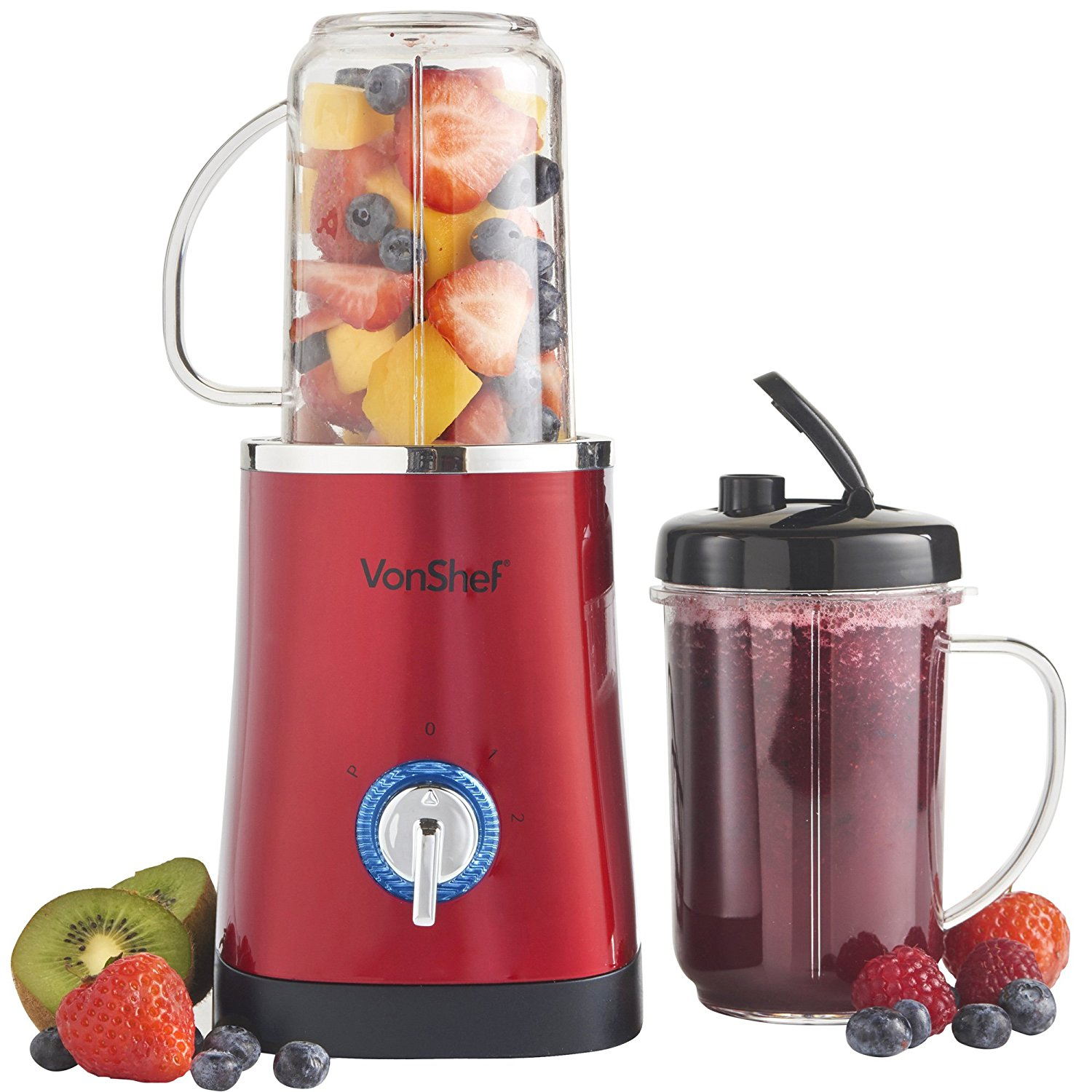 Vonshef Blender Juicer Grinder & Smoothie Maker for 220 Volts & 50 hz