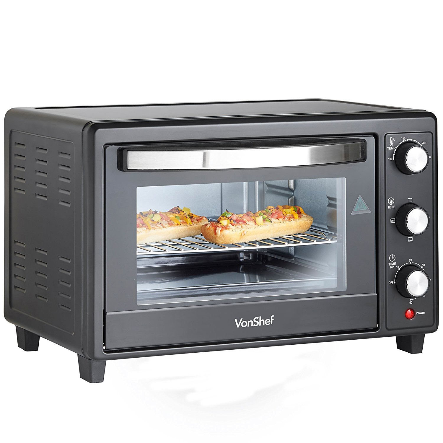 Vonshef 220 volts 30 Liter Toaster Oven with Convection Grill 220 240 volt  50 hz 13216