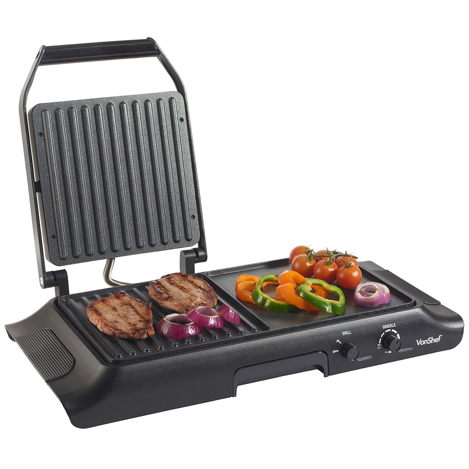 Vonshef 220 Volts 50 Hz Electric Grill, Panini Press and Griddle 13100