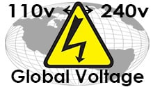 Worldwide Voltage from 110 Volts to 240 Volts!