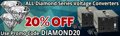 20% Off Diamond Series Voltage Converters